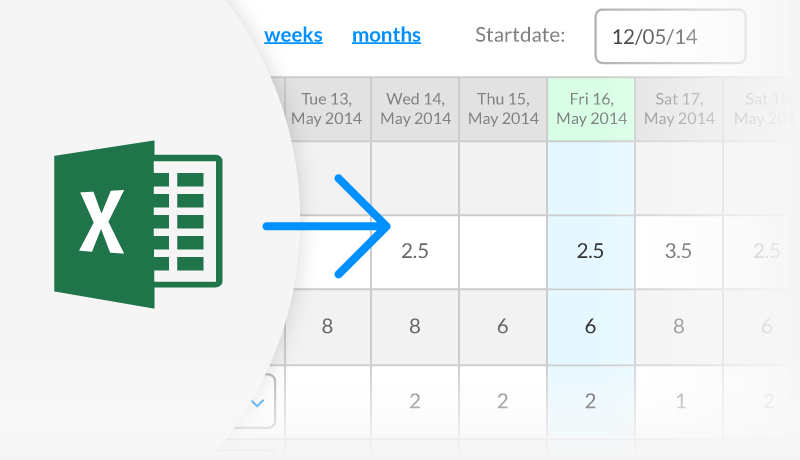 Easily import timesheets